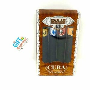 CUBA CLASSIC 4 Piece Variety Set 4 X 1.17 Oz EDT Cologne for Men NEW IN BOX