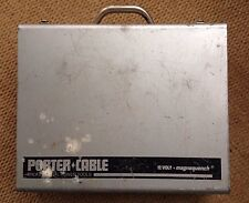 PORTER CABLE 12V MAGNEQUENCH CORDLESS DRILL METAL CARRYING CASE, MODEL 852