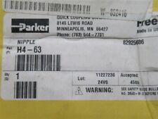 Parker, H4-63, Hydraulic Quick Connect Nipple 1/2 NPT Female (Box 2)