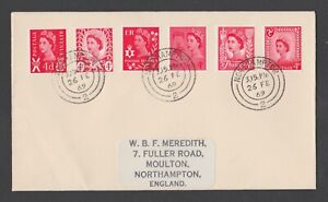 +++ 1969 4d BRIGHT VERMILION JOINT GB REGIONAL FIRST DAY COVER +++