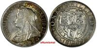 Great Britain Victoria (1837-1901) Silver 1899 1 Shilling XF Toned KM# 780