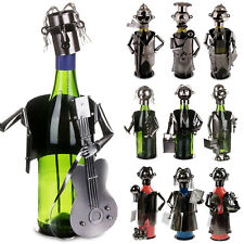 Polished Metal Wine Bottle Holder Stand Champagne Wine Rack Bar Display Storage