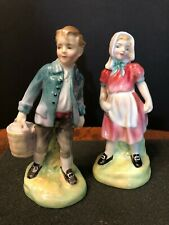 "Beautiful Vintage Royal Doulton Figurines "" Jack & Jill "" Hn2060 & 2061 c1949"