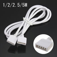 1/2/2.5/5M 5 Pin Extension Cable Connector for 5050 RGBW Strip Wire LED Light