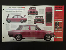 1975 TRIUMPH DOLOMITE SPRINT IMP Hot Cars Spec Sheet Folder Brochure RARE
