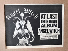 More details for angel witch angelwith memorabilia original nwobhm music press advert from 1980 -