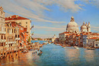 Beautiful Italy Venice Landscape oil Painting Hd Giclee Printed on canvas P888