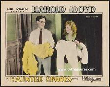 HAUNTED SPOOKS HAROLD LLOYD 1920S LOBBY CARD MOVIE POSTER 3