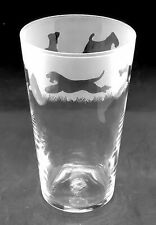More details for airedale terrier frieze boxed 57cl conical 1 pint glass
