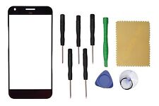 """Black Outer Front Screen Glass Lens Replacement For Google Pixel XL 5.5"""" + Tools"""