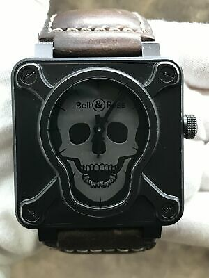 Bell & Ross Airborne Skull & Crossbones Limited Edition BR01-92-SA Grey Dial Aut