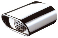 E-Tech Polished Stainless Steel M Type Oval Exhaust Tailpipe Replacement Tip