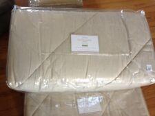 Pottery Barn Linen Silk Diamond Comforter Brownstone Queen 2 Standard Shams New