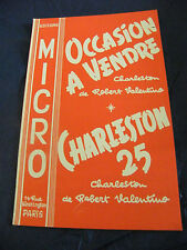Partition Occasion à vendre Robert Valentino Charleston 25 1960 Music Sheet