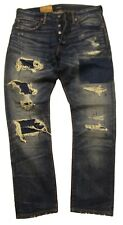 Polo Ralph Lauren Men's Blue Ripped & Distressed The Sullivan Slim Fit Jeans