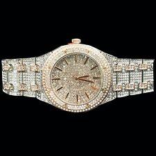 Captain Bling's White & Rose Gold Diamond Finish Watch for Men, Stainless Steel