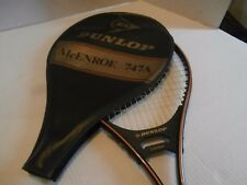 Vintage Dunlop JOHN McENROE 747A Tennis Racquet with Cover