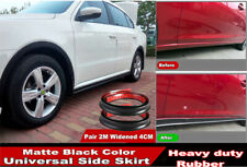 2X 2M Universal Widened Car Side Skirt Strip Flexible Rubber Safety Anti-scratch