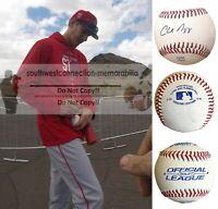 Charles Nagy Cleveland Indians Signed Autograph Baseball Padres Exact Proof COA