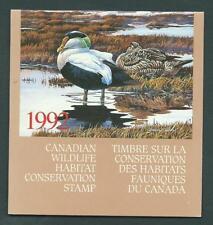 Canada FWH8  $8.50 Eider Duck (1992) - Wildlife Habitat... Booklet Format