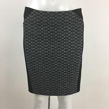 Theory Skirt Size 4 Black White Tweed Knit NAVARRO CHEVRON New NWT $165