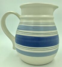 Pfaltzgraff 32Oz Country Decor Blue Striped Water Pitcher