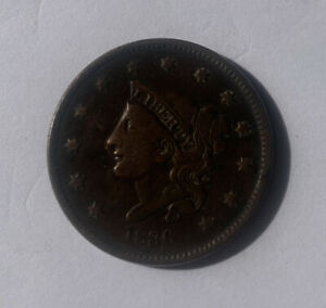 1836 US Classic Head Large Cent Coin
