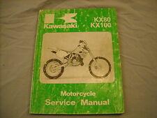 91-92 Kawasaki Service Manual KX80 KX100