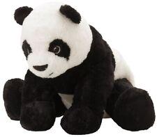 "PANDA BEAR IKEA KRAMIG 12"" STUFFED ANIMAL TOY PLUSH TOY KIDS BLACK / WHITE - NWT"
