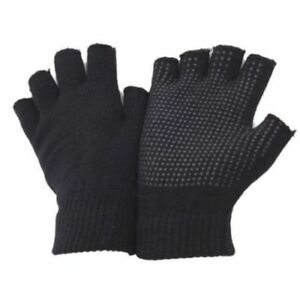 Winter Thermal BLACK MAGIC GLOVES - One Size Fits All - WITH PALM RUBBER GRIP