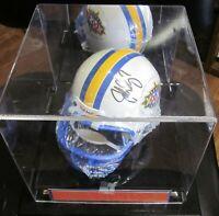 John Elway Signed Denver Broncos Super XXXll Bowl Mini Helmet. COA/Notary. Case