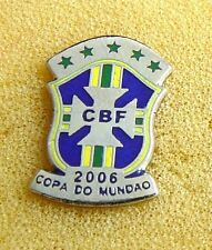 2006 FIFA WORLD CUP team BRAZIL pin BADGE SOCCER Brasil FOOTBALL CBF