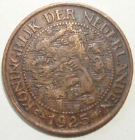 1925 NETHERLANDS 1 CENT WORLD COIN NICE!