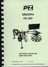 "PZ ""Grasspa HS 360"" Hay Tedder Instruction Parts Book"