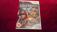 CALL OF DUTY 3 - ORIGINAL WII GAME WITH BOOKLET
