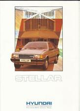 HYUNDAI STELLAR 1.6, SL AND GSL SALES BROCHURE 1990 1991