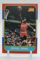 1986-87 Fleer Basketball Michael Jordan Rookie Reprint Card