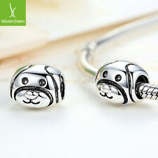 Spring European Cute Dog Silver CZ Charms Bead Fit 925 Necklace & Bracelet,Chain