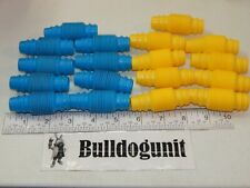 Vintage Tomy Popoids Colossal Cosmic Set Lot of 18 Yellow & Blue Bendable Pieces