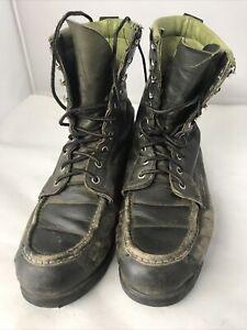 Cabela's Vibram Gumlite Leather  Green Lace Up Boots - 9B