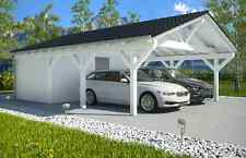 NEU Premium Spitzdachcarport mit Geräteraum 6.50 x 9.00 Carport ab Werk