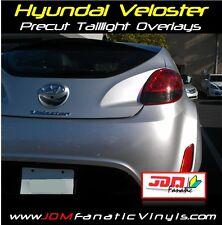 12-13 Veloster Smoked Taillight Overlays Reverse Smoke Out JDM KDM Tint Vinyl