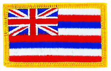 FLAG PATCH PATCHES HAWAII HAWAI   IRON ON EMBROIDERED UNITED STATES USA STATE