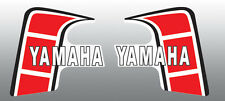 YAMAHA 1980-1982 YZ80 GAS/FUEL TANK DECALS EURO VERSION RED WHITE