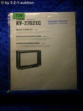 Sony Bedienungsanleitung KV 2762EC Color TV (#0739)