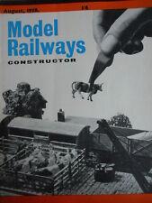 Model Railway Constructor 8 1958