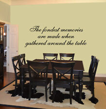 The Fondest Memories Are Made...Vinyl Wall Quote Decal Art Lettering Decor 99027