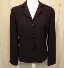 LINEA DOMANI Women's Career Blazer Jacket Size 8 Button Front Lined Black NEW