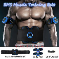 EMS Stimulator Abdominal Muscle Training Gear Home Fitness Toning ABS Fit Belt