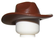 Lego New Reddish Brown Minifgure Hat Very Wide Brim Fedora Outback Style Part